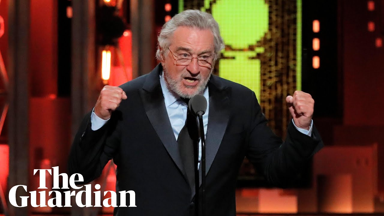 Robert de Niro's 'Freakin' Trump' speech at Tony awards ...