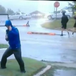 "Trending Florence weather man video feeds ""fake news"""